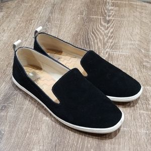 Dolce Vita black suede slip on shoes size 7